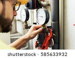 plumber installing pressure...