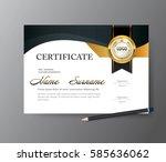 certificate template a4 size... | Shutterstock .eps vector #585636062