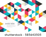vector of abstract geometric... | Shutterstock .eps vector #585643505