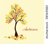 autumn tree  element for your... | Shutterstock .eps vector #58565083