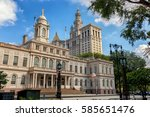 city hall of ny | Shutterstock . vector #585651476