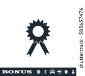 award icon flat. black... | Shutterstock .eps vector #585657476