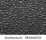abstract black bubble... | Shutterstock . vector #585666932