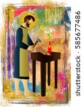 St Joseph The Worker  Abstract...
