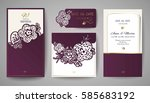 set of wedding floral... | Shutterstock .eps vector #585683192