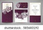 set of wedding floral... | Shutterstock .eps vector #585683192