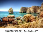 Hdr Image Of Rocky Coastline I...
