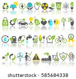 eco friendly bio green energy... | Shutterstock . vector #585684338