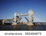 Tower Bridge  Lifted  On A...