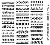 collection of hand drawn... | Shutterstock .eps vector #585697472