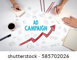ad campaign  business concept.... | Shutterstock . vector #585702026