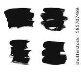 collection of black ink brush... | Shutterstock .eps vector #585707486