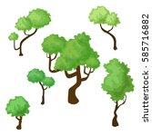 set of isometric trees | Shutterstock .eps vector #585716882