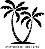 vector silhouettes of palms   Shutterstock .eps vector #58571758