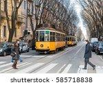 milan  italy   february 21st ...   Shutterstock . vector #585718838