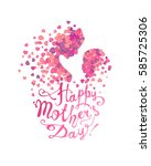 happy mother's day  woman and... | Shutterstock .eps vector #585725306