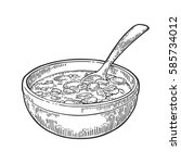 chili con carne in bowl with...   Shutterstock .eps vector #585734012