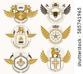 vector classy heraldic coat of... | Shutterstock .eps vector #585741965
