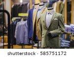 men elegant clothing   Shutterstock . vector #585751172