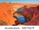 Hdr Image Of The Lake Powell...