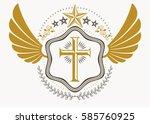 heraldic coat of arms... | Shutterstock .eps vector #585760925