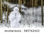 yeti fairy tale character in...   Shutterstock . vector #585762422