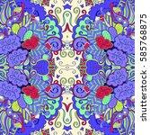 tracery seamless calming...   Shutterstock .eps vector #585768875