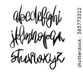 vector hand painted latin...   Shutterstock .eps vector #585773312