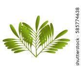 leafs plant ecology symbol | Shutterstock .eps vector #585774638