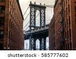 new york bridge | Shutterstock . vector #585777602