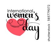 international women's day... | Shutterstock .eps vector #585779072