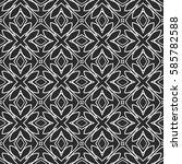 seamless decorative geometric... | Shutterstock .eps vector #585782588