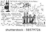 vector   hand draw organic... | Shutterstock .eps vector #58579726