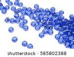 crystal beads | Shutterstock . vector #585802388