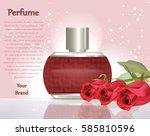 perfume cosmetics and perfume... | Shutterstock .eps vector #585810596