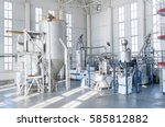 in the workshop machines for... | Shutterstock . vector #585812882