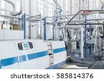 in the workshop machines for... | Shutterstock . vector #585814376