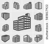 building icons illustration... | Shutterstock .eps vector #585817922