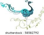 peacock artistic hand drawn   Shutterstock .eps vector #58582792