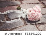a bridal bouquet on the... | Shutterstock . vector #585841202