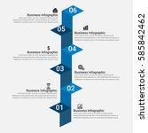 business infographics elements | Shutterstock .eps vector #585842462