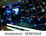 social media with... | Shutterstock . vector #585855665