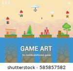 game art for mobile platformer... | Shutterstock .eps vector #585857582