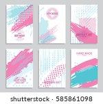 vector frame for text modern... | Shutterstock .eps vector #585861098