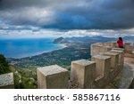 Erice  Trapani  Sicily  Italy ...