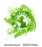 green city of the world  eco... | Shutterstock .eps vector #585873566