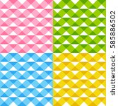 set of seamless patterns with... | Shutterstock .eps vector #585886502