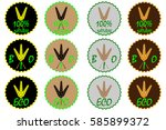 wheat ear label or sticker  100 ... | Shutterstock .eps vector #585899372
