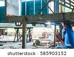 Steel Welding Of The Beam Unde...
