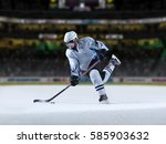 ice hockey player in action... | Shutterstock . vector #585903632